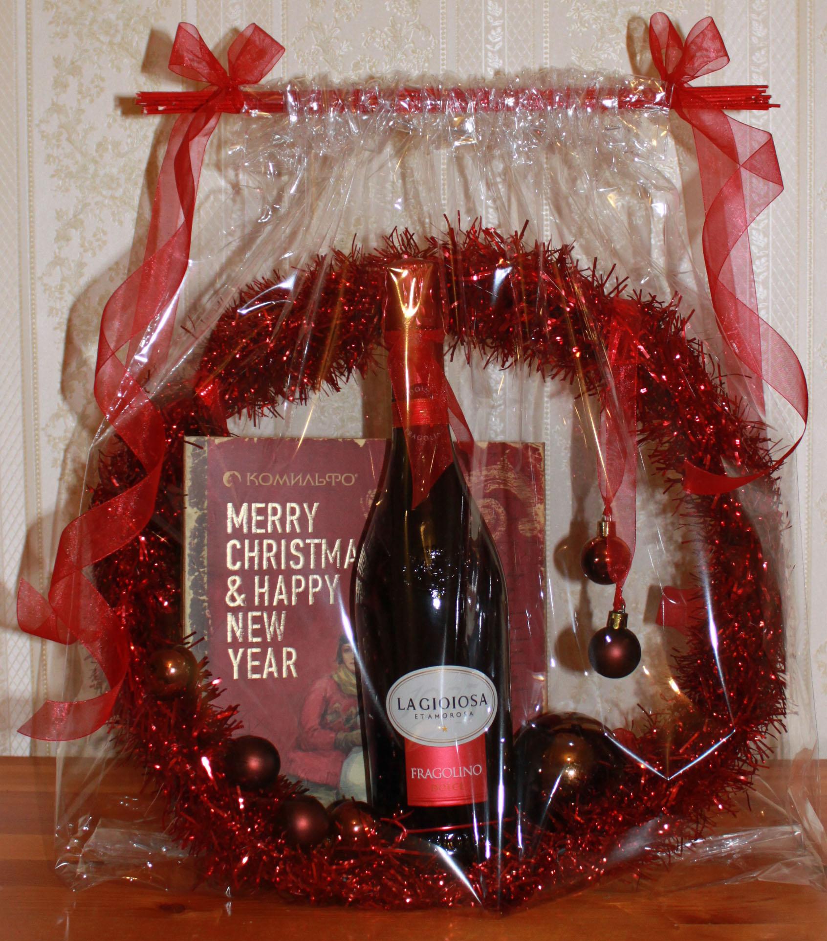 Подарки шампанское конфеты 3